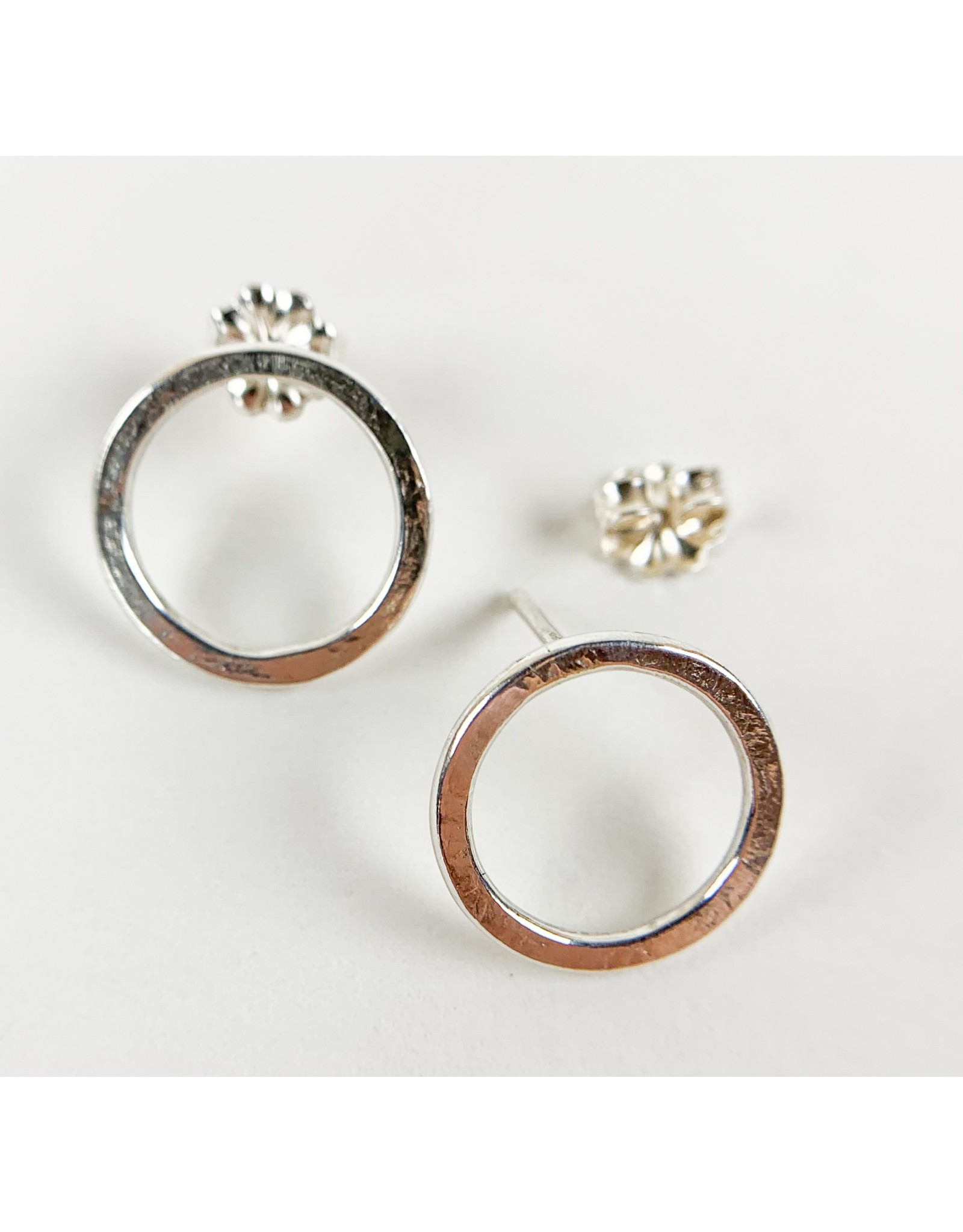 Camille Hempel Jewelry-Consignment CHE23 Large Circle Studs Sterling Pair