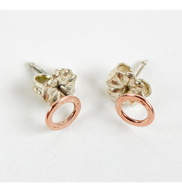 Camille Hempel Jewelry-Consignment CHE33 Circle Stud Earrings Rose Gold 10k