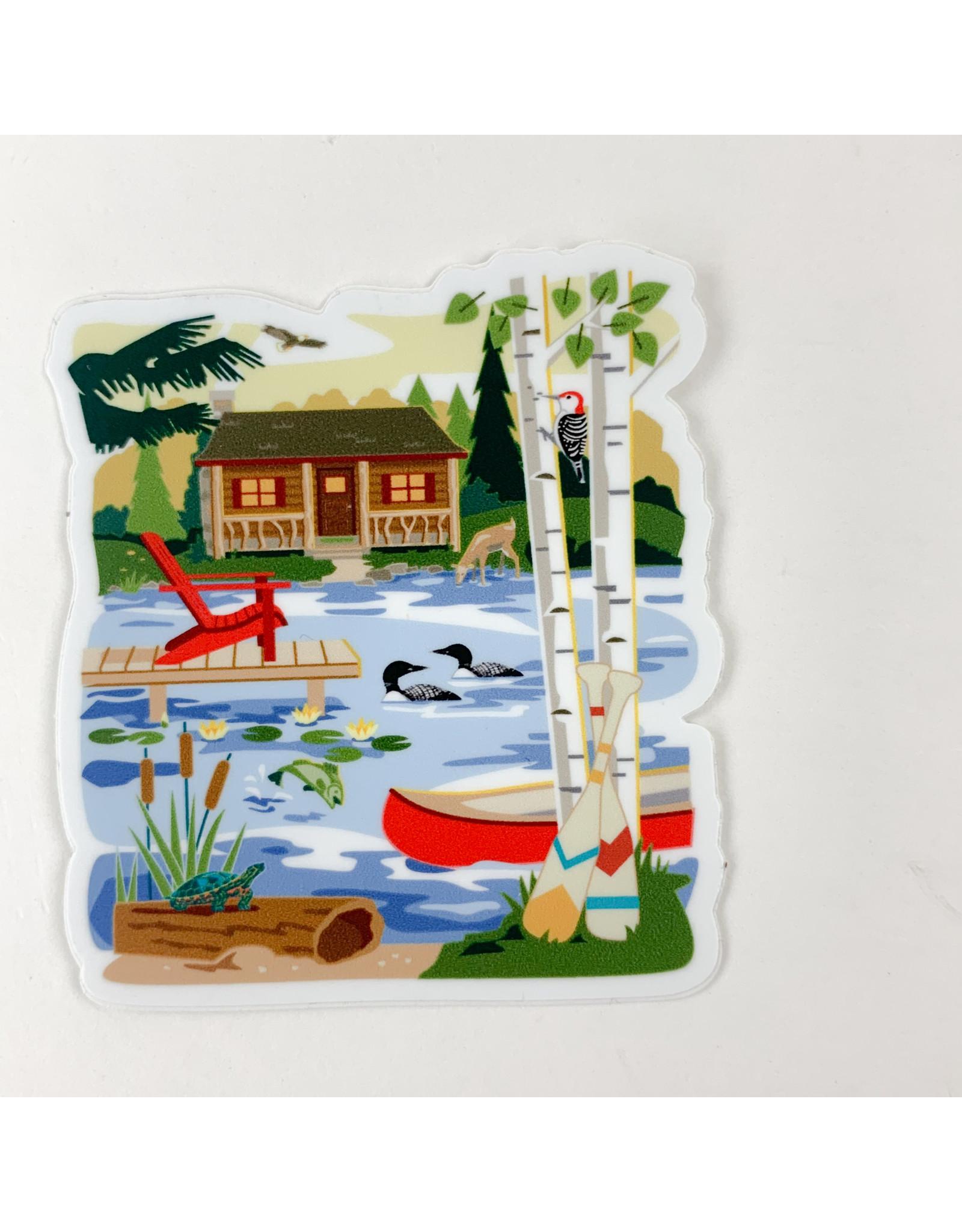 Cabin life- sticker