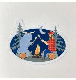 P. Bunyan campfire- sticker