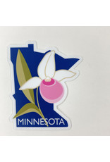 Mn. Lady slipper-sticker