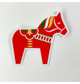 Red dala horse-sticker
