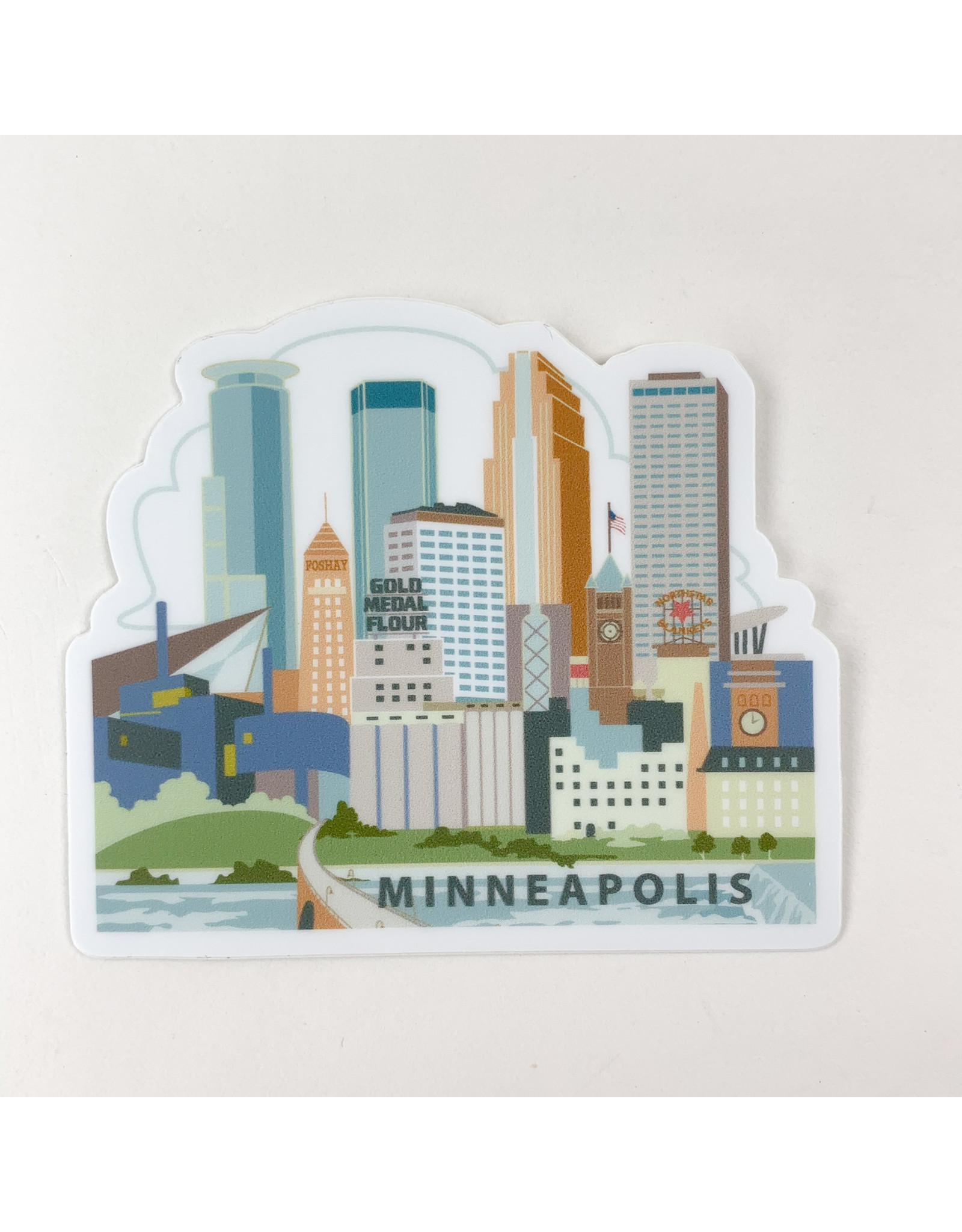 Mpls. River view-sticker
