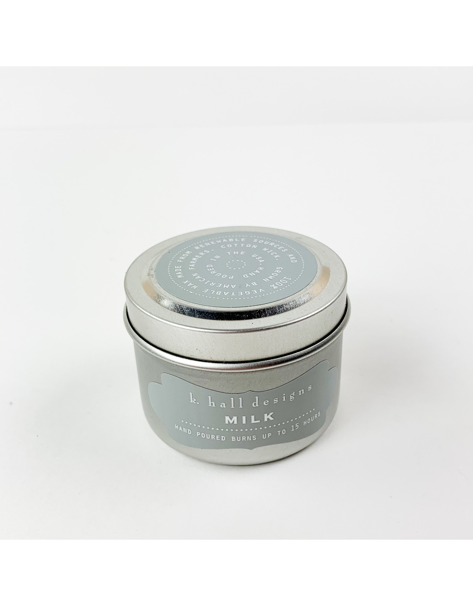 K. Hall Milk Travel Candle