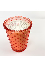 K. Hall Watermelon Basil Hobnail Candle