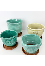 Tiny Town Pottery-consignment #6 Turquoise Planter Consignment