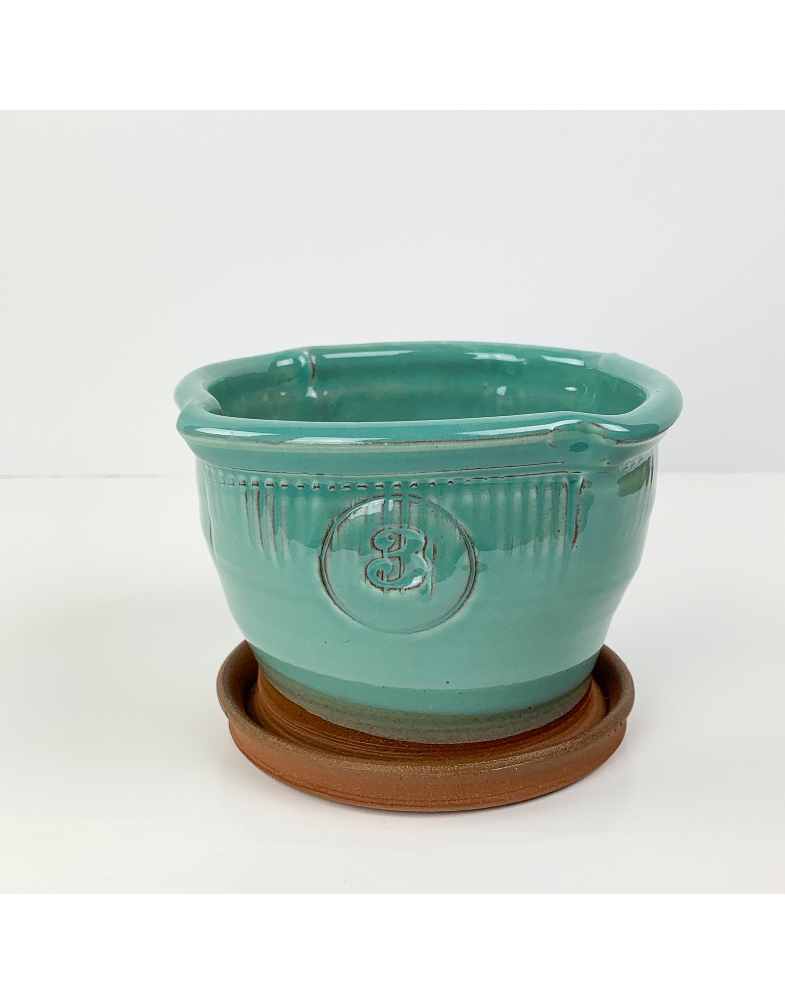 Tiny Town Pottery-consignment #3 Turquoise Planter Consignment