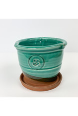 Tiny Town Pottery-consignment #3 Green Planter Consignment