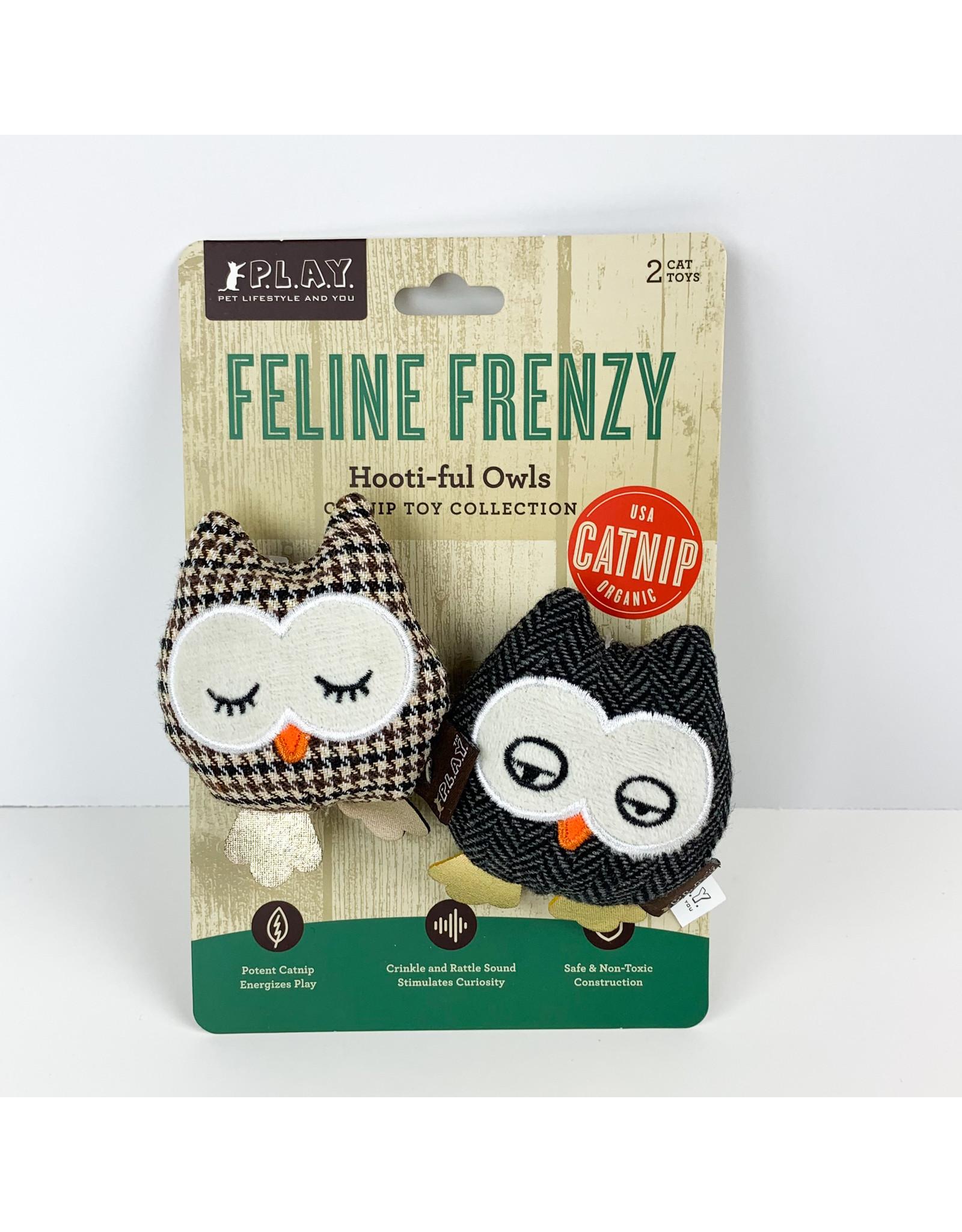 Pet Play Feline Frenzy Hootiful Owls