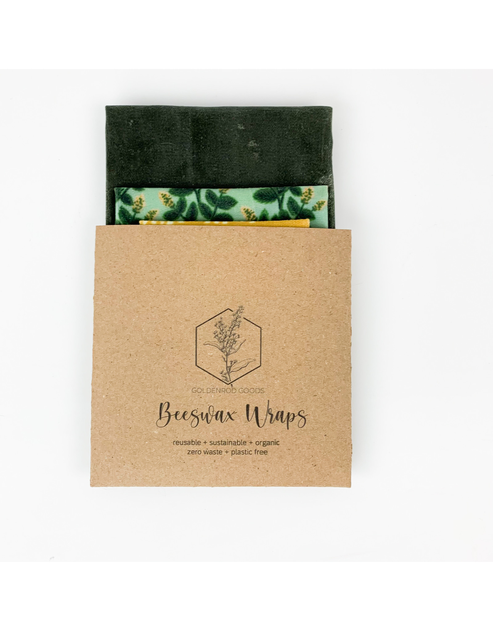 Goldenrod Goods Beeswax Wrap 3 Pack - Spring Assorted