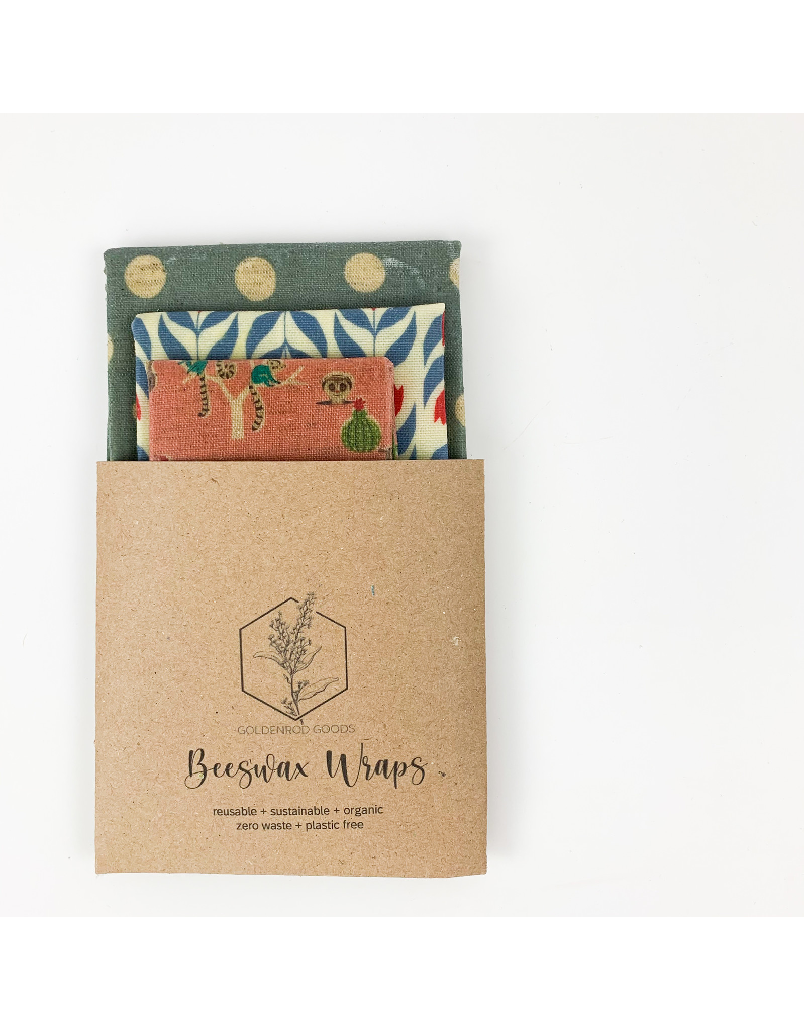 Goldenrod Goods Beeswax Wrap 3 Pack - Meercat Fun
