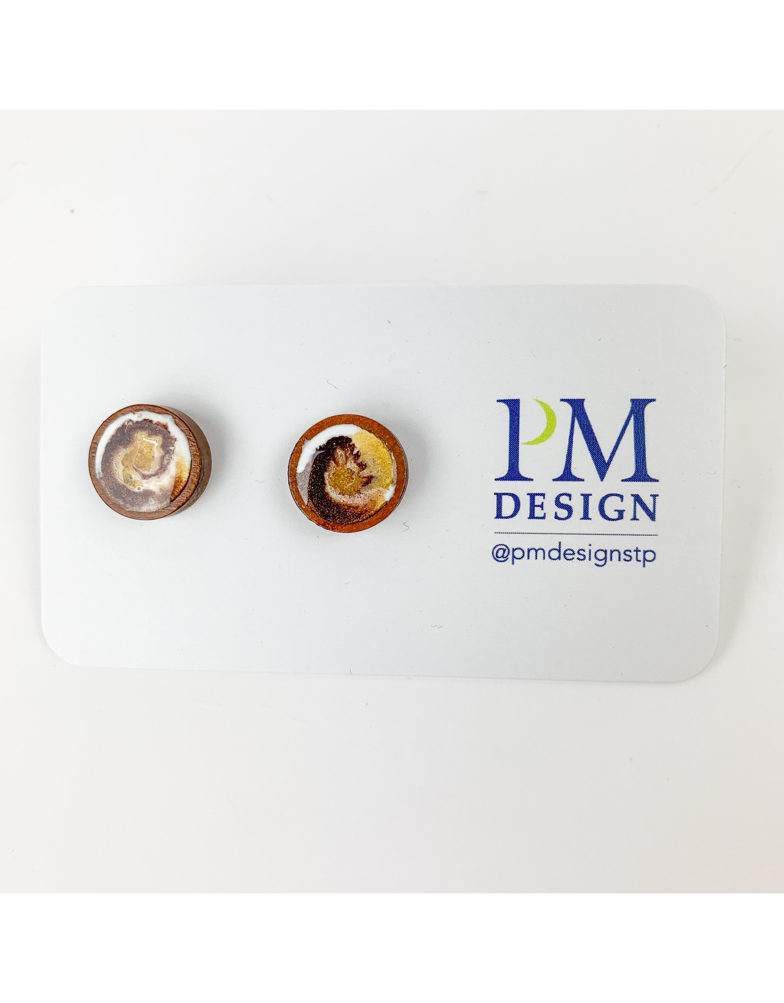 PM Design - Consignment Stud - Brown and Gold Consignment
