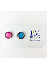 PM Design - Consignment Stud - Pink and Blue Pair Consignment