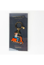 Rifle Scooter Girl Keychain