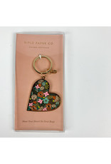 Rifle Floral Heart Keychain