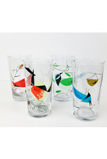 Charley Harper Art Studio Charley Harper Bird and Mantis Glass