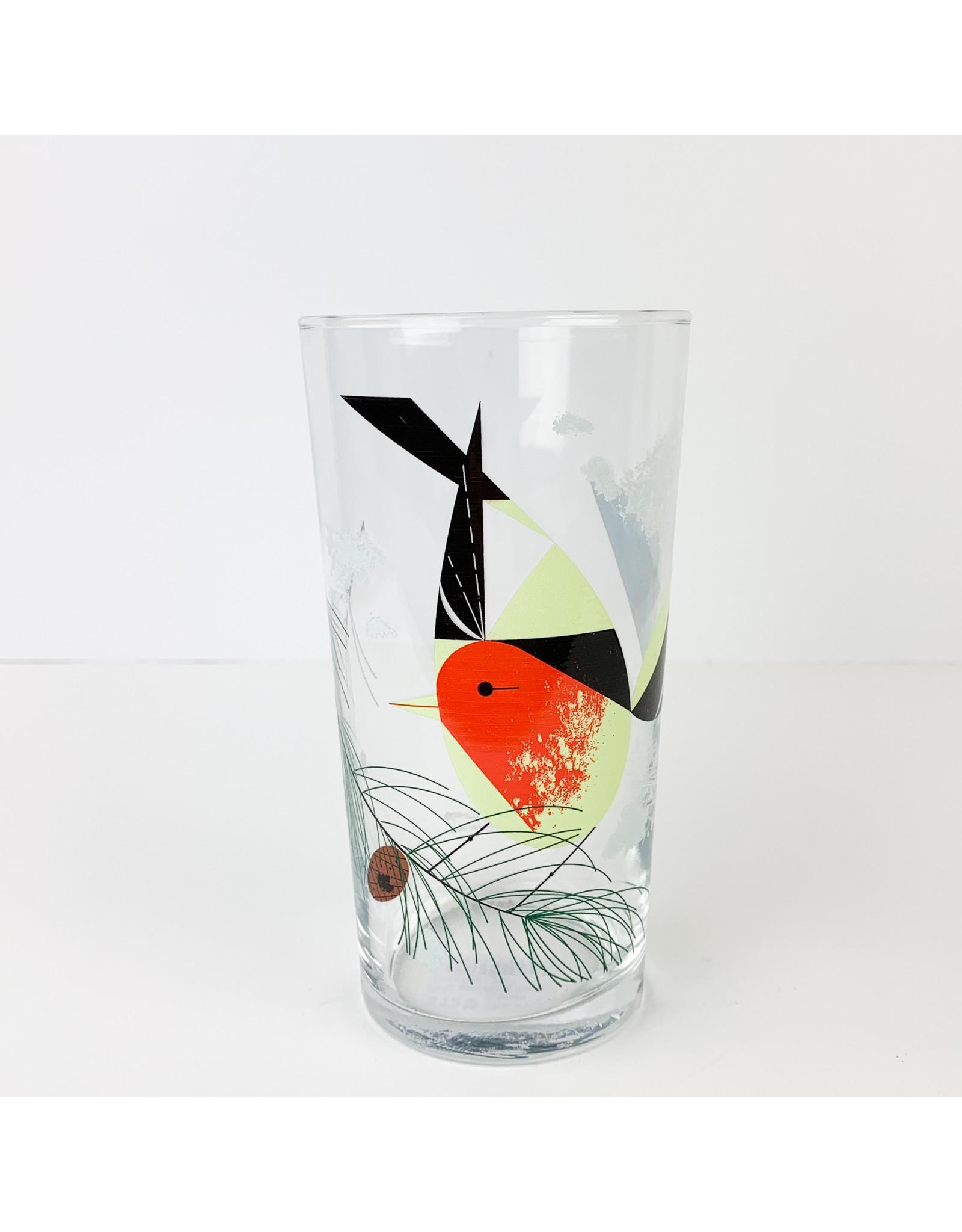 Charley Harper Art Studio Charley Harper Bird and Pine Cone Glasses