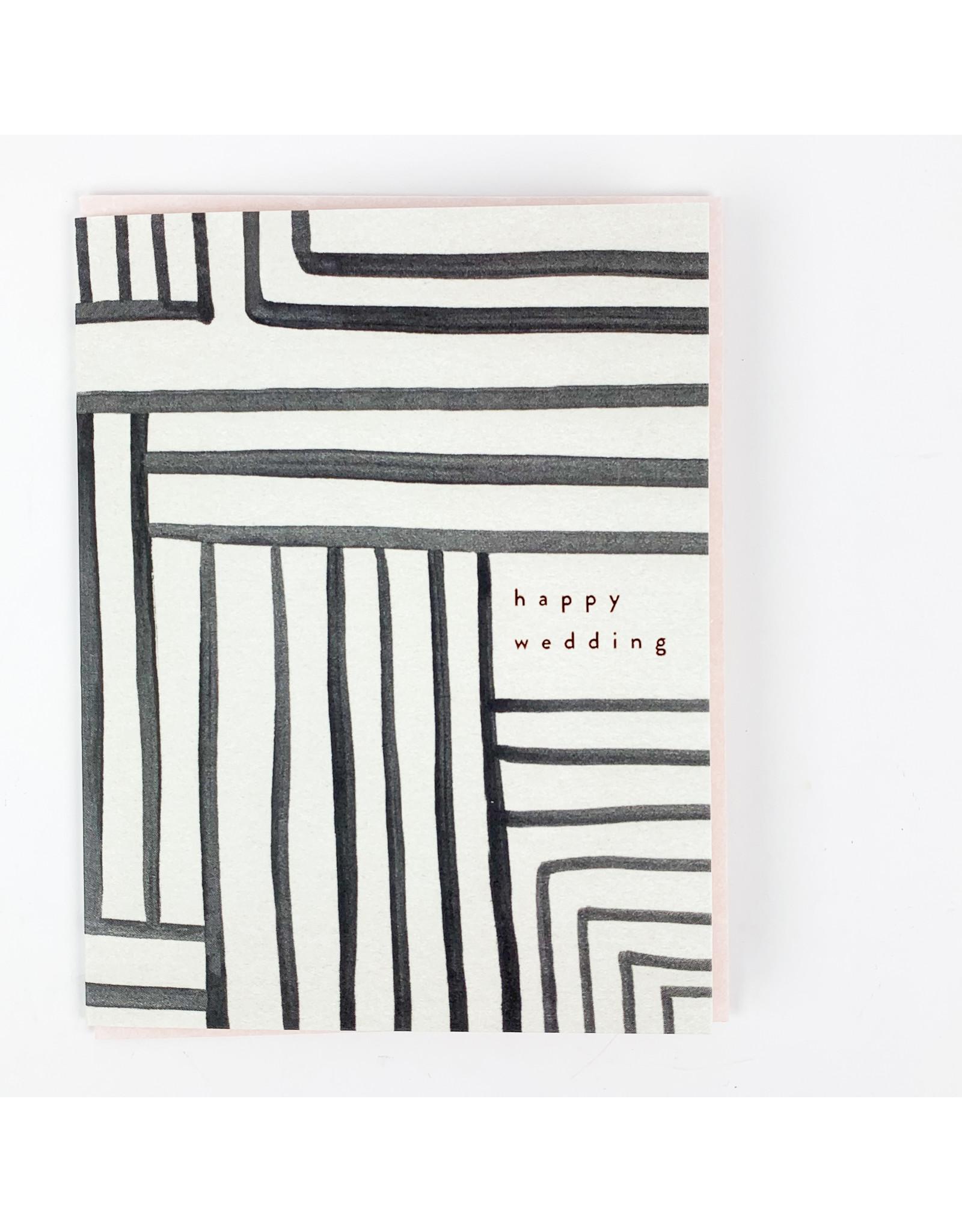 Wedding Stripe Greeting Card
