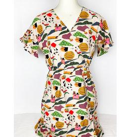 THML Printed V Neck Dress