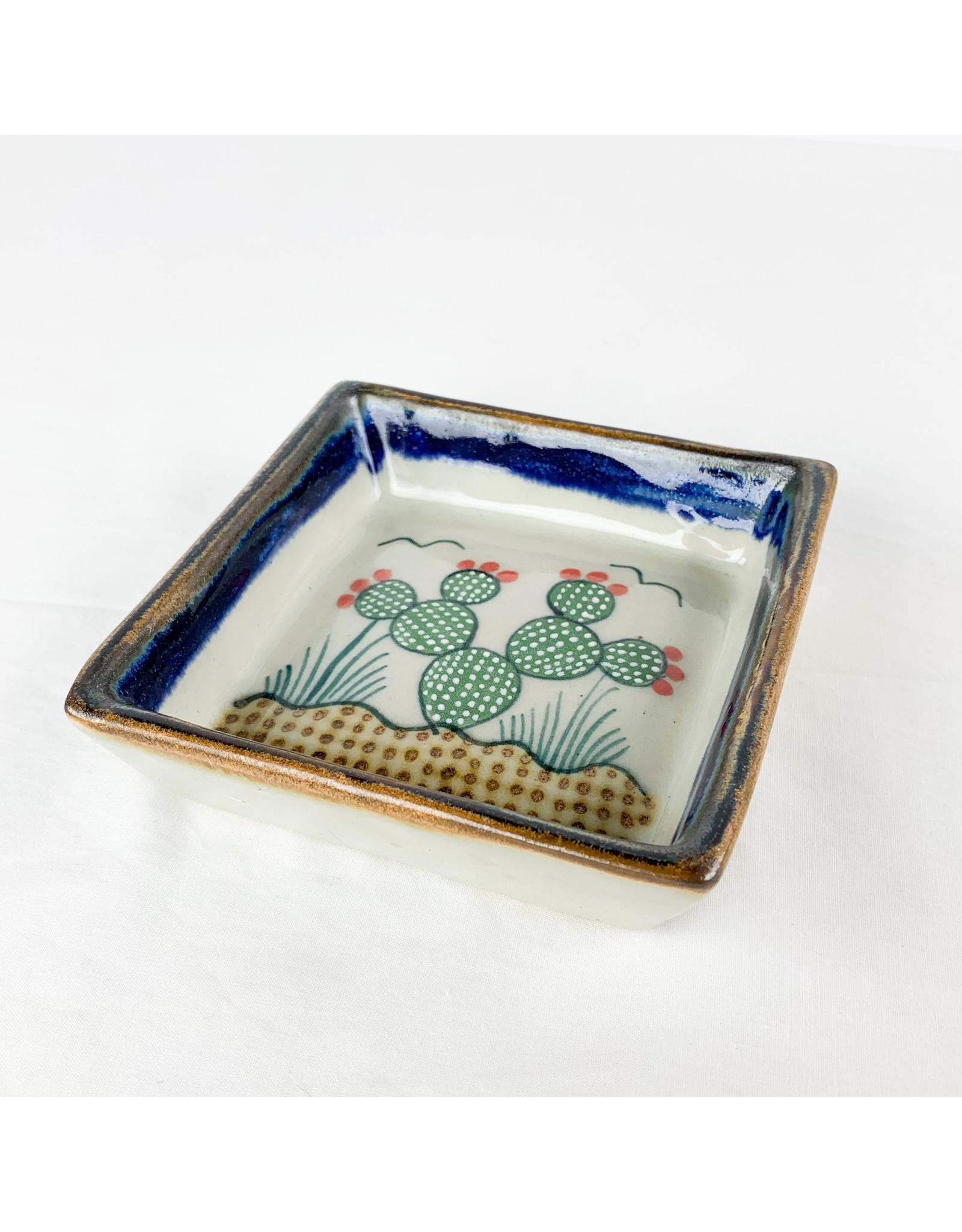 Tesoros Square Dish Cactus