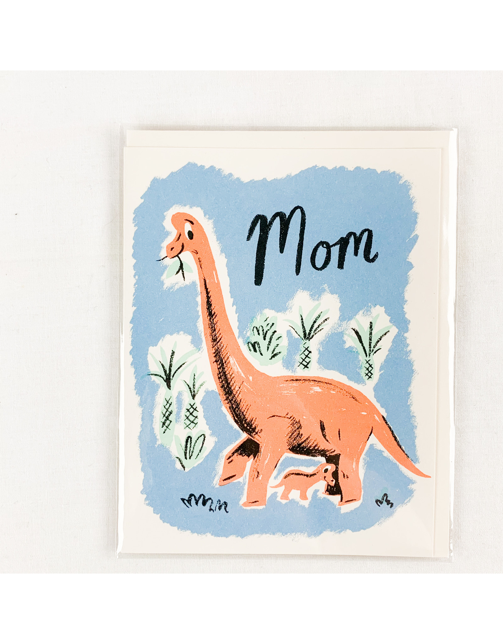 Red Cap Cards Pink Dinosaur Mother's Day