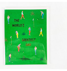 Red Cap Cards Golf Dad Father's Day