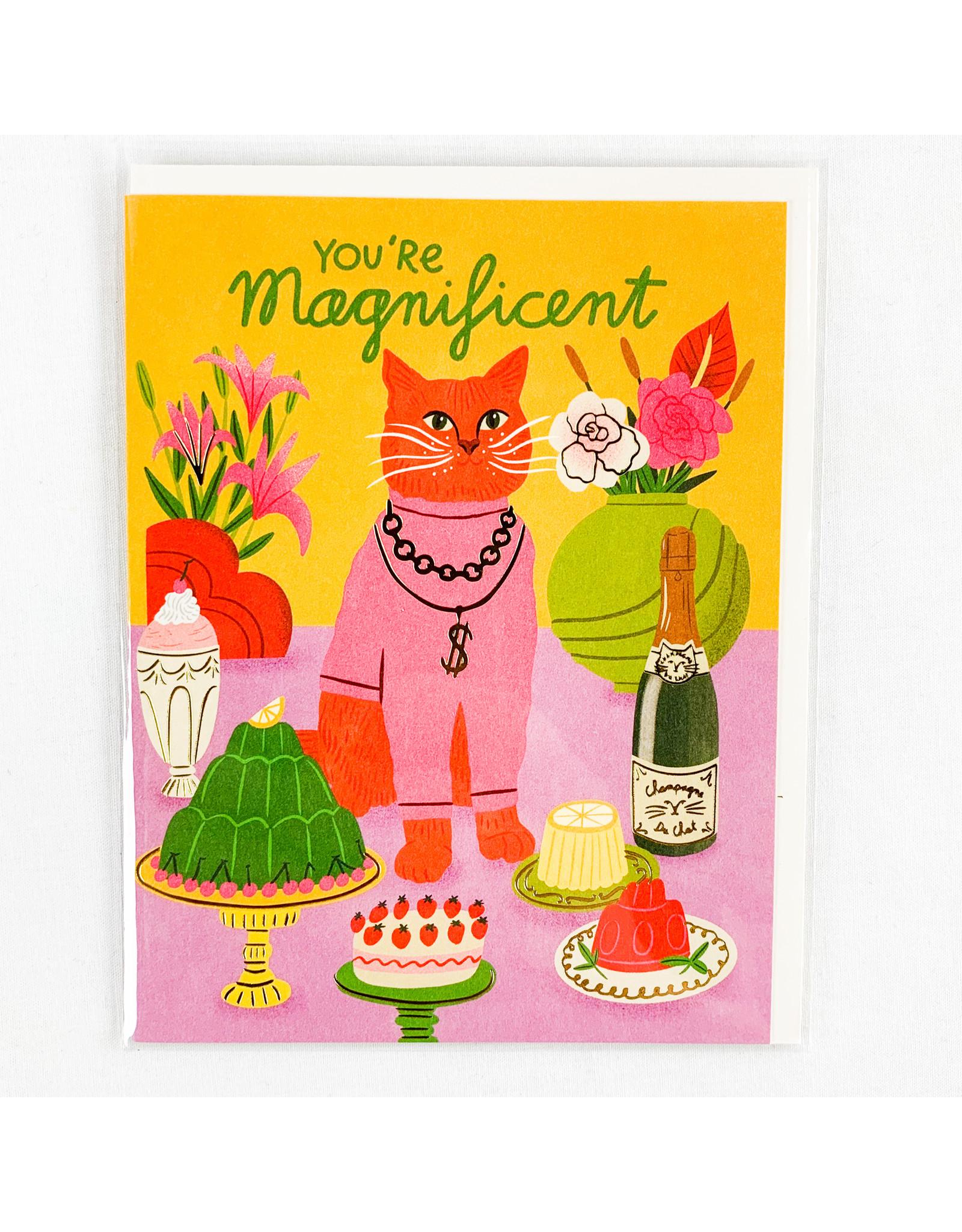 Red Cap Cards Magnificent Cat
