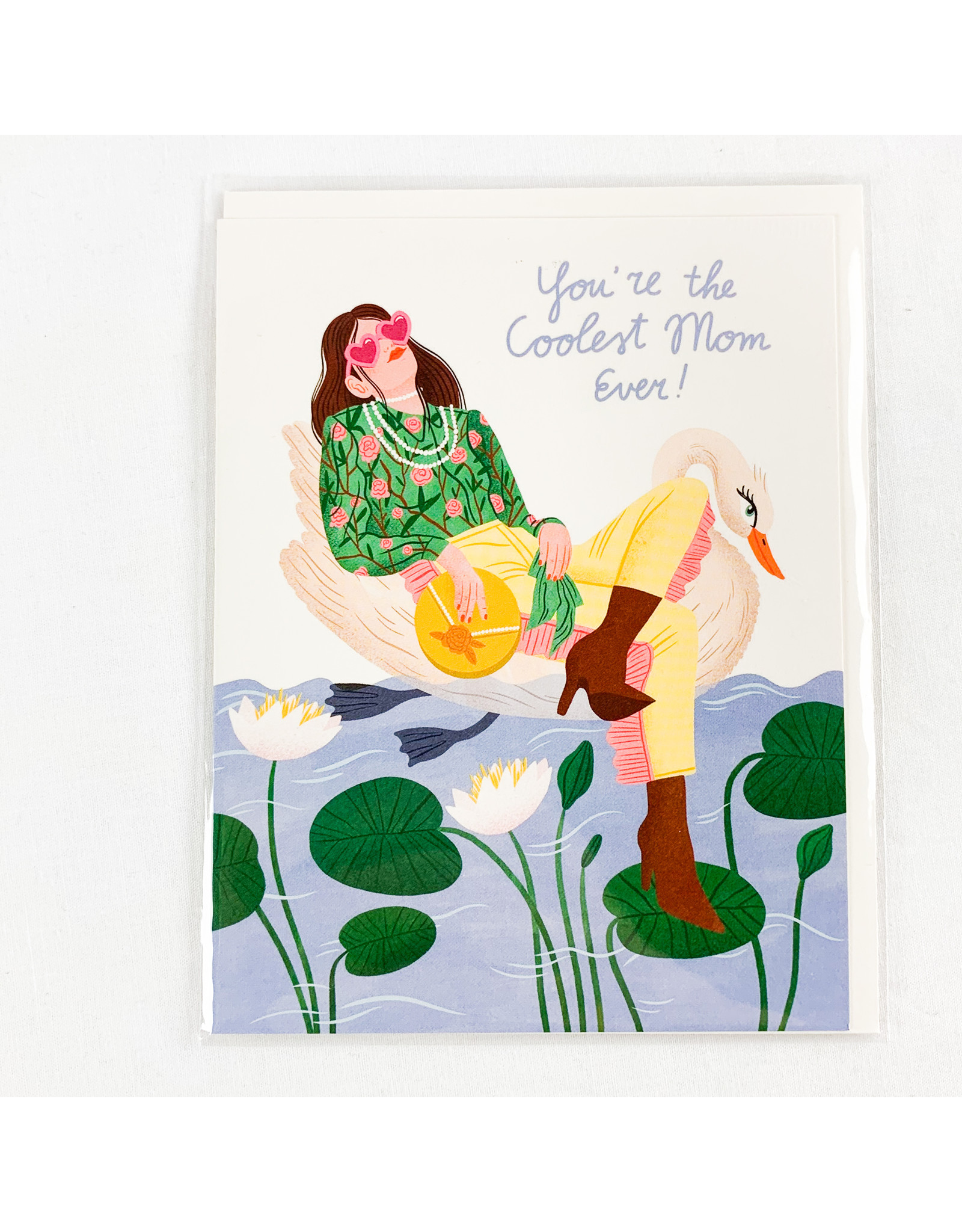 Red Cap Cards Swan Mother's Day