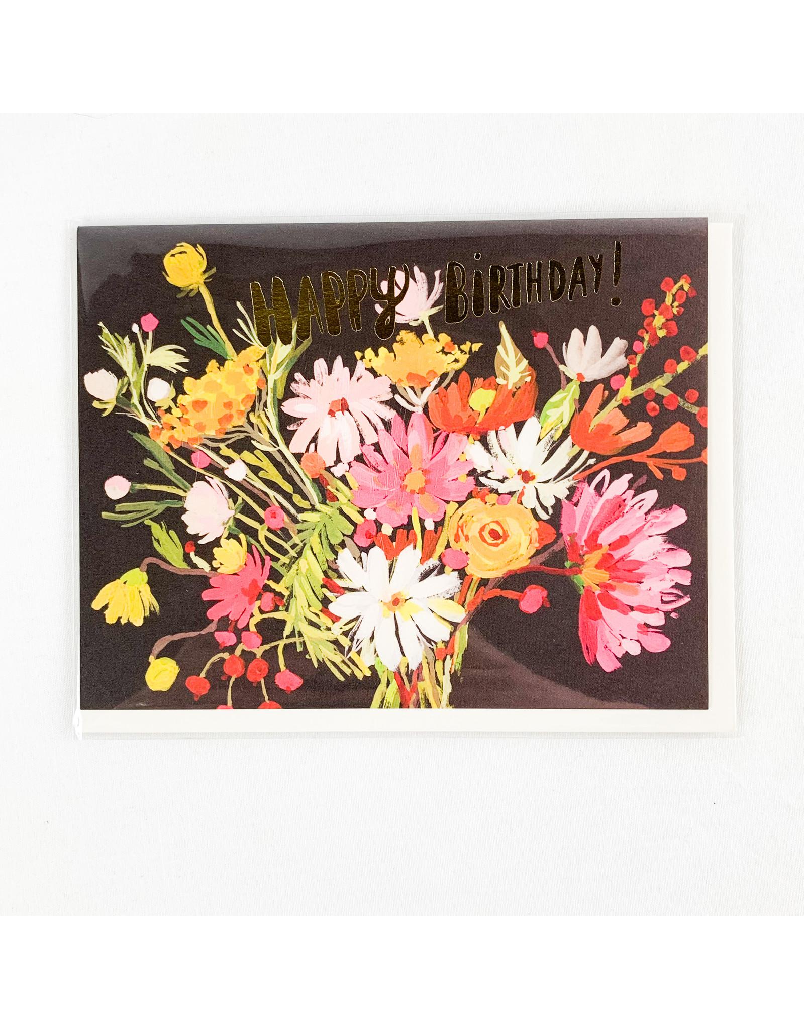 Red Cap Cards Vintage HBD Bouquet
