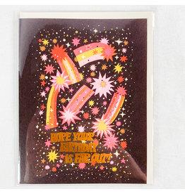 Red Cap Cards Comet's Bday