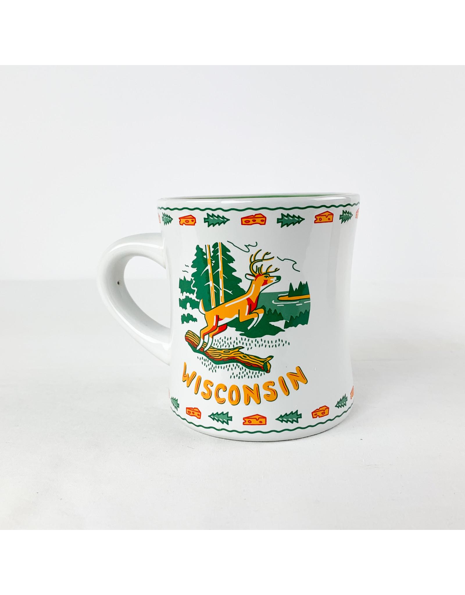 One Hundred 80 Degrees WI Stoneware Mug