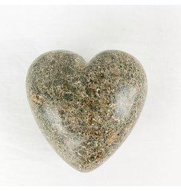 Tesoros Small Handcarved Stone heart Haiti