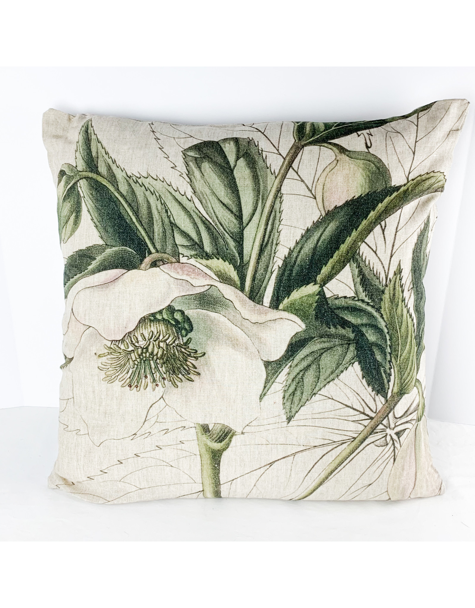 Creative Co-Op Square Linen Print Pillow 2