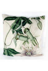 Creative Co-Op Square Linen Print Pillow 1