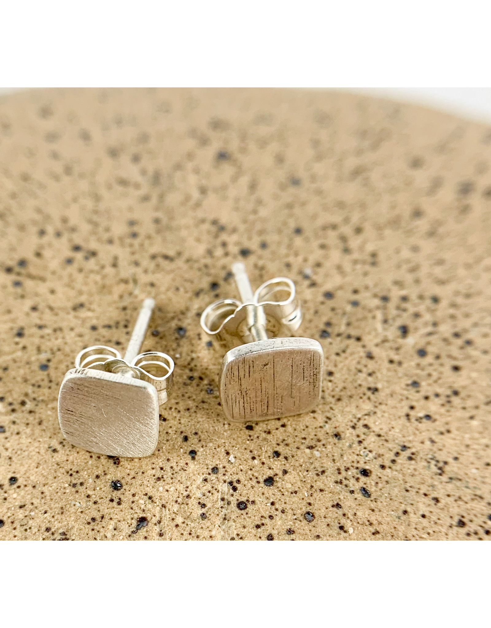 Solid Square stud-silver