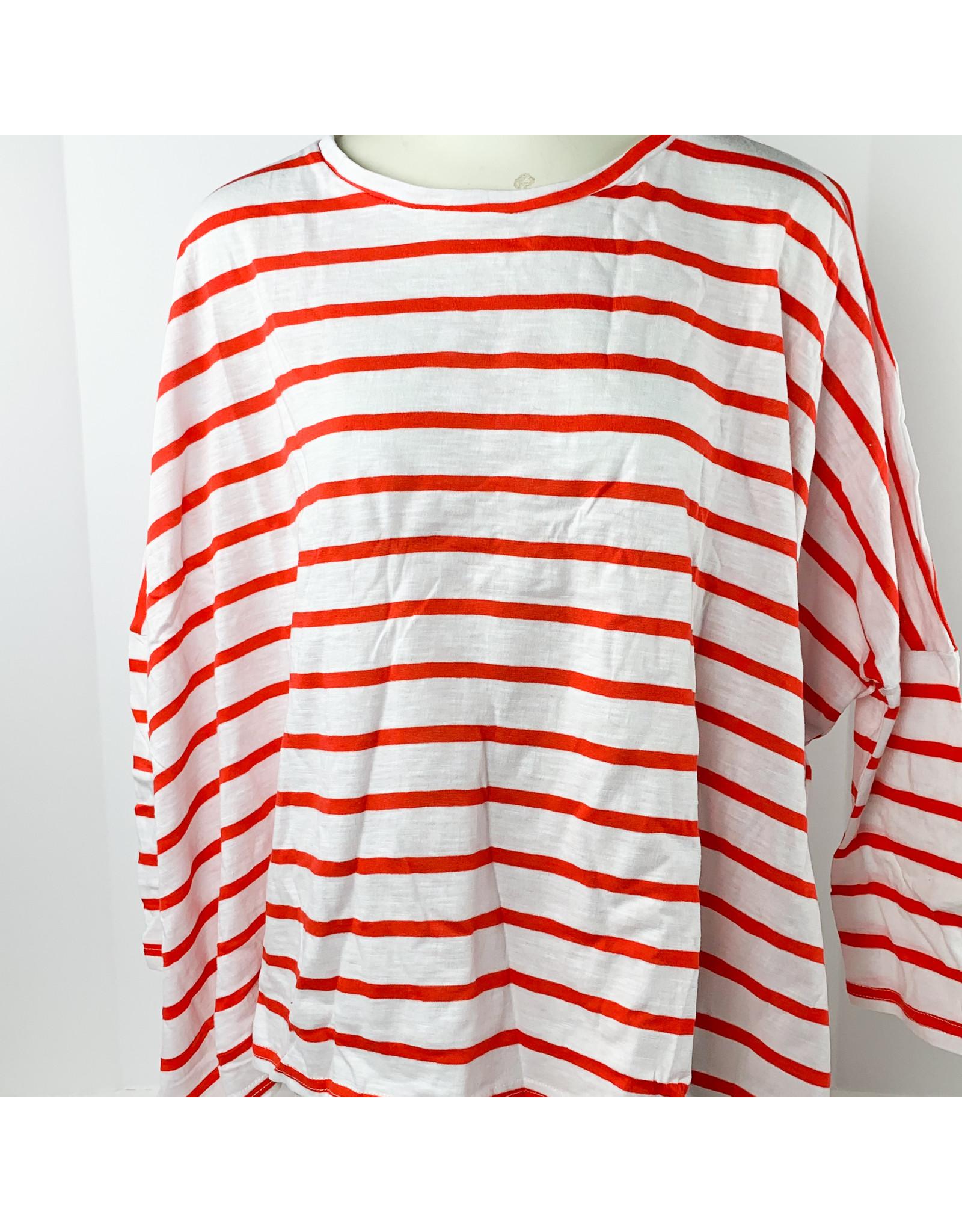 Mer Sea Catalina Linen Slub-White/Red