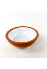 Now Designs Terracotta Pinch Bowl White