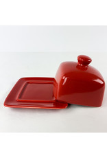 Now Designs Butter Dish Red