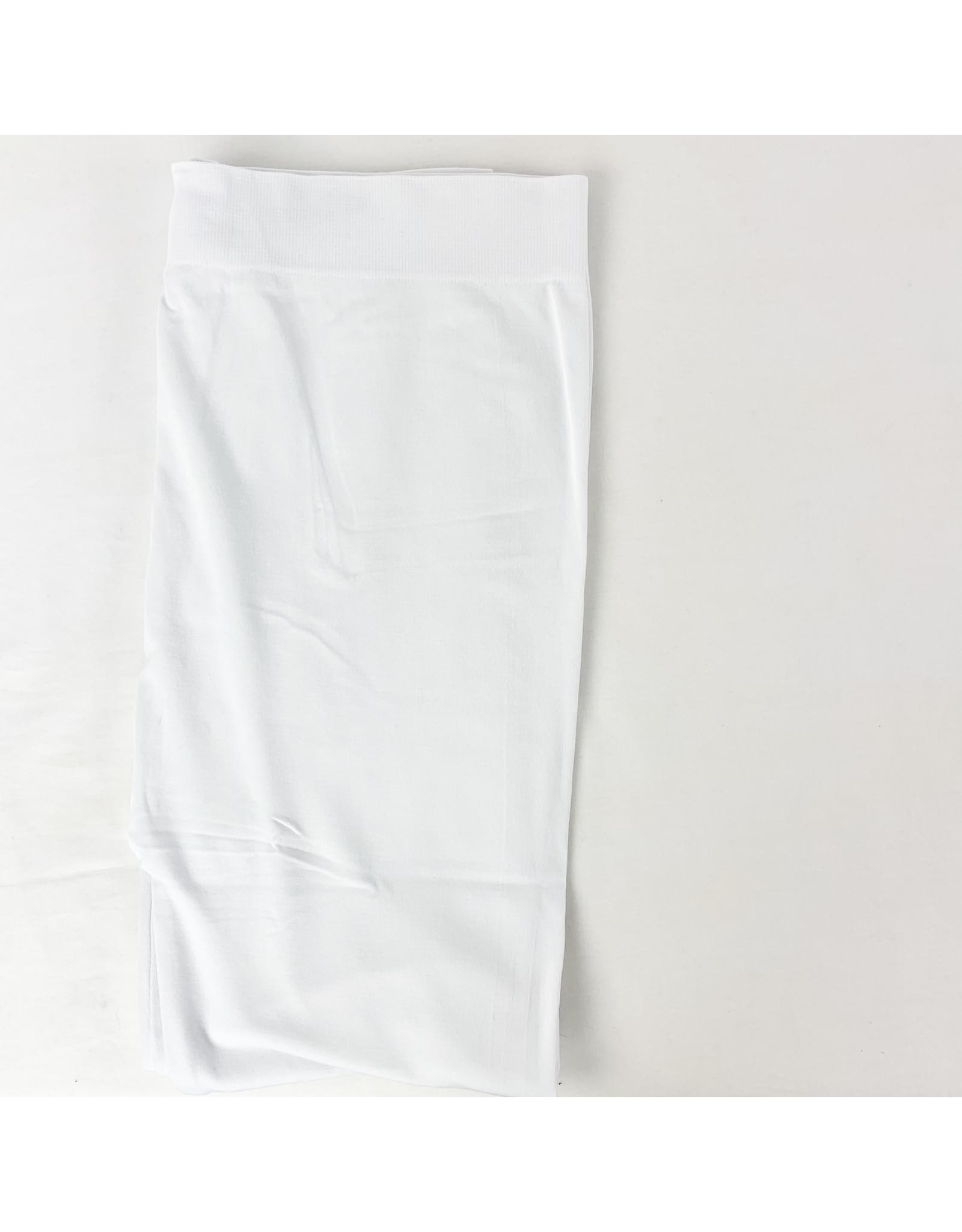 C'est Moi Plus Size 3/4 Length Bamboo Leggings White