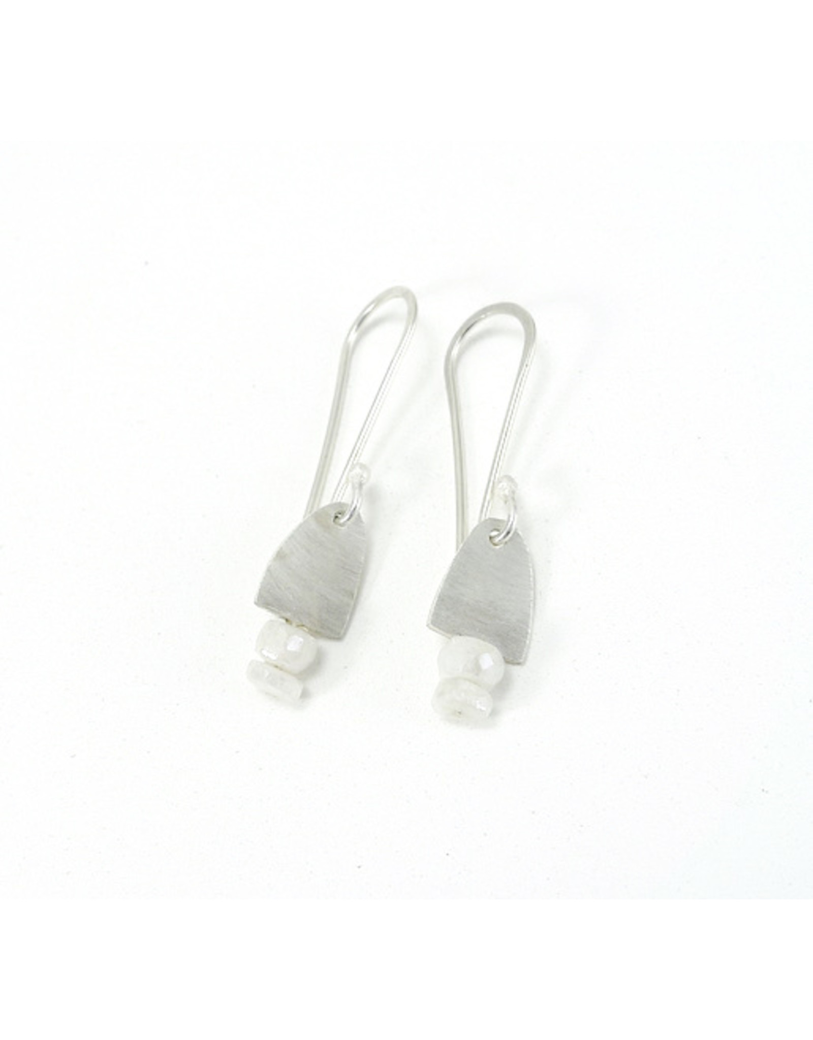 Bridget Clark - Consignment E2460 Tiny Silver Drops and Two Stone - White Sapphire