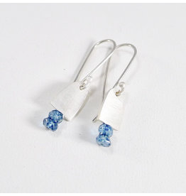 Bridget Clark - Consignment E2460 Tiny Silver Drops and Two Stone - Apatite