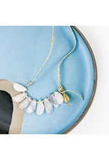 Rose Quartz Linen Necklace-Consignment