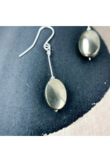 Nicole Collodoro Pyrite Oval Earrings