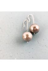 Nicole Collodoro Greyish Pearl Drop Earring