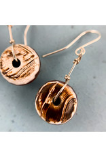 Nicole Collodoro Agate Wheel Earrings