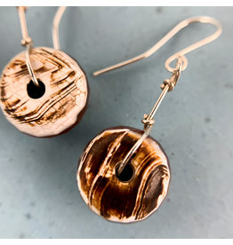 Nicole Collodoro Agate Wheel Earrings
