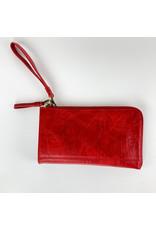 Joy Accessories Red Karina wristlet