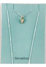 penny larsen December Necklace/Frosted Blue Topaz
