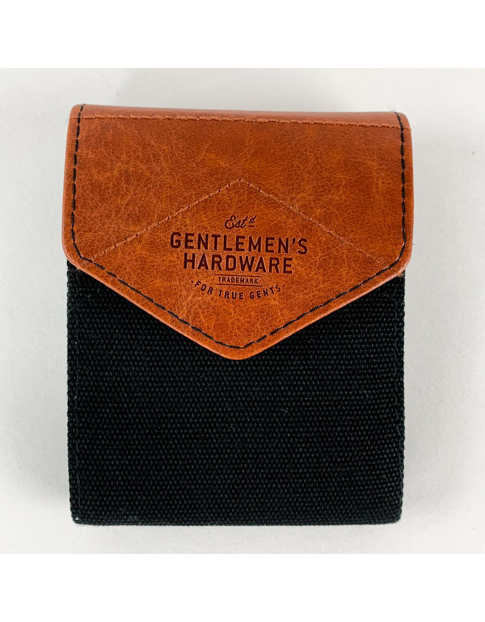 Gentlemen's Hardware Charcoal Canvas Manicure Set