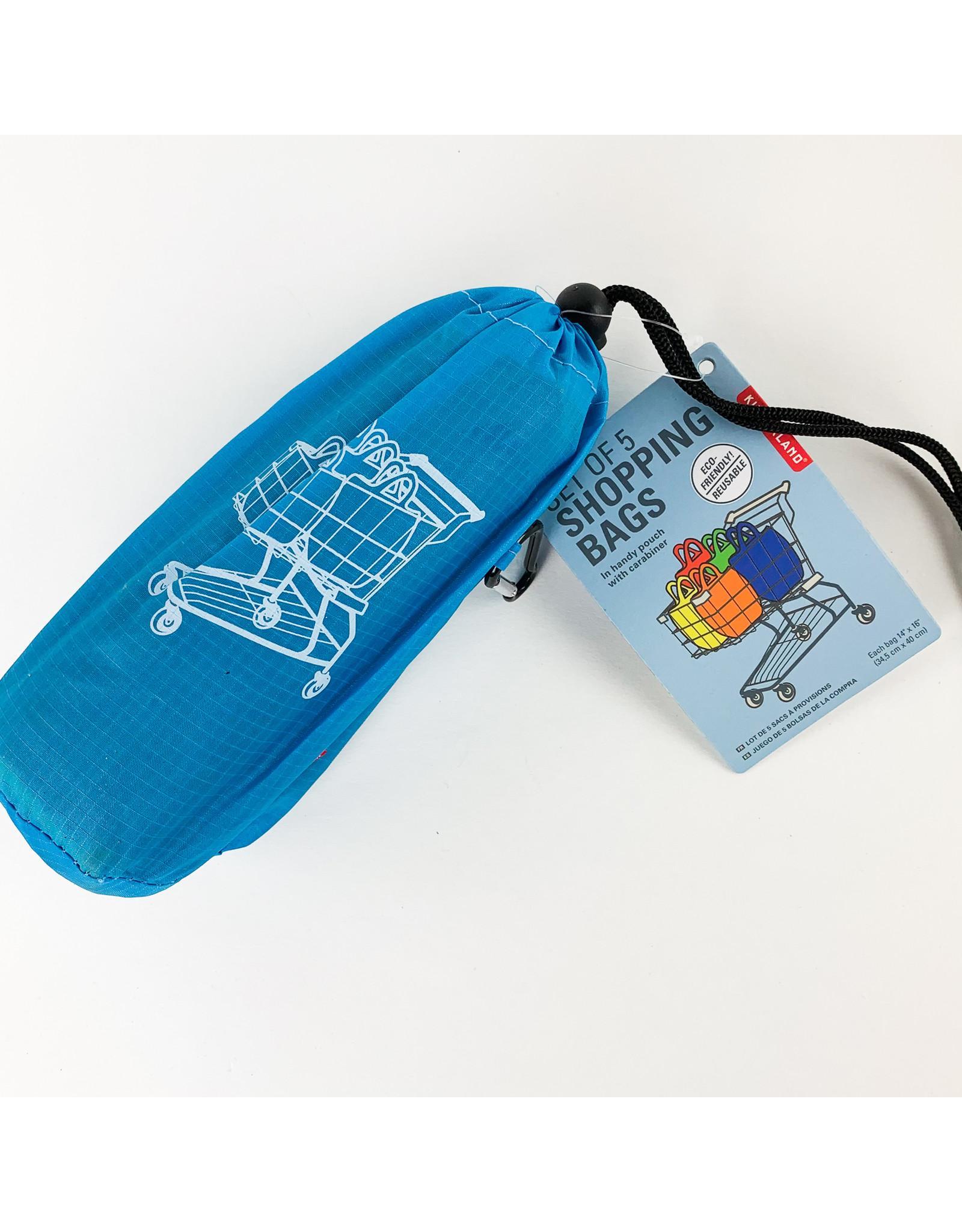 Kikkerland Set of 5 Shopping Bags
